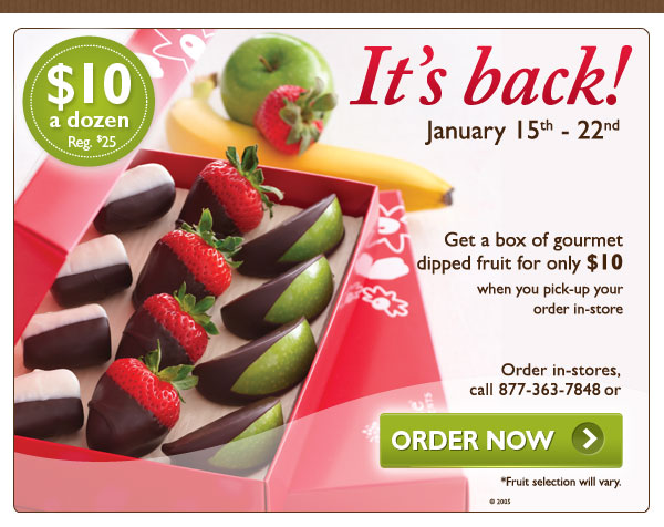 Edible arrangements 10 for a box of gourmet dipped fruit the