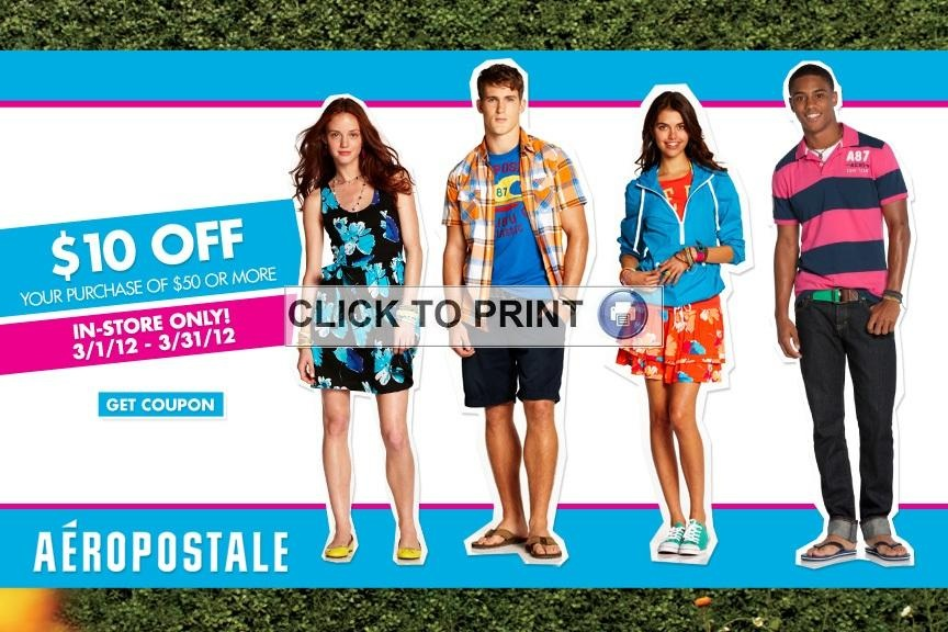 Ps aeropostale coupons in store