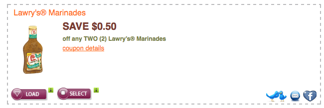 Lawry's marinade coupons 2018