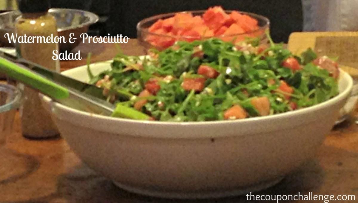 Watermelon & Prosciutto Salad Recipe #EEinNYC