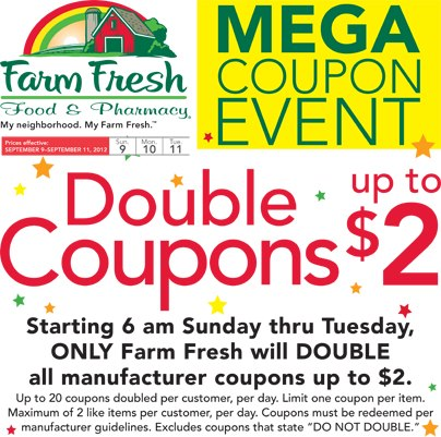 Does food lion double coupons in va