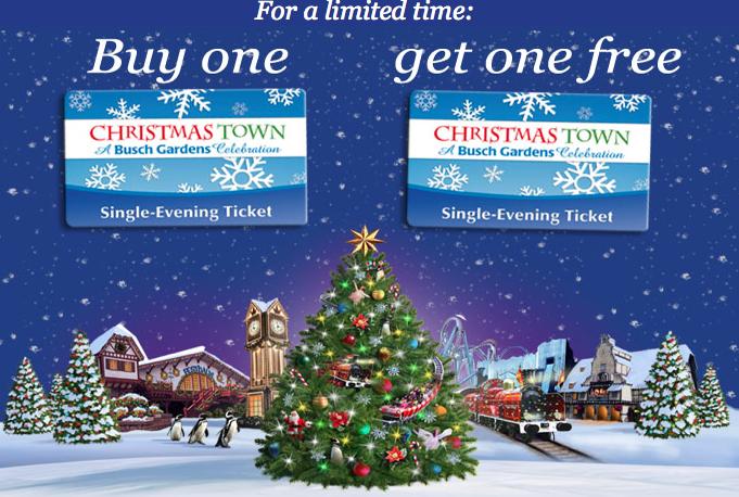 Busch garden 39 s christmas town twitter promotion 2012 not - Busch gardens christmas town prices ...
