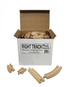 Wooden Train Track 100 Piece Pack