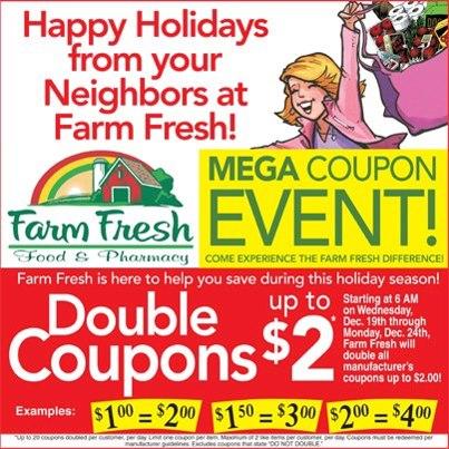 Farm fresh double coupons 2018