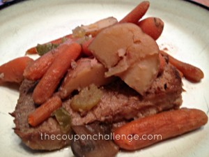 Beef Roast with Vegetables in Crockpot
