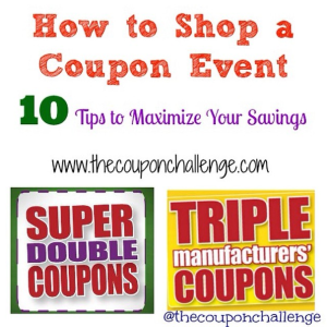 How to Shop a Coupon Event