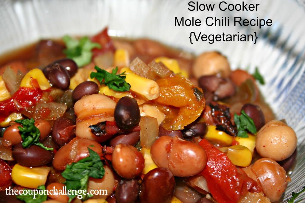 Slow Cooker Mole Chili Recipe