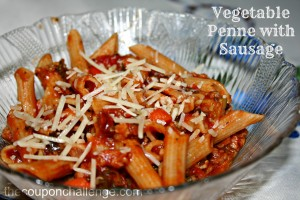 Vegetable Penne with Sausage Recipe