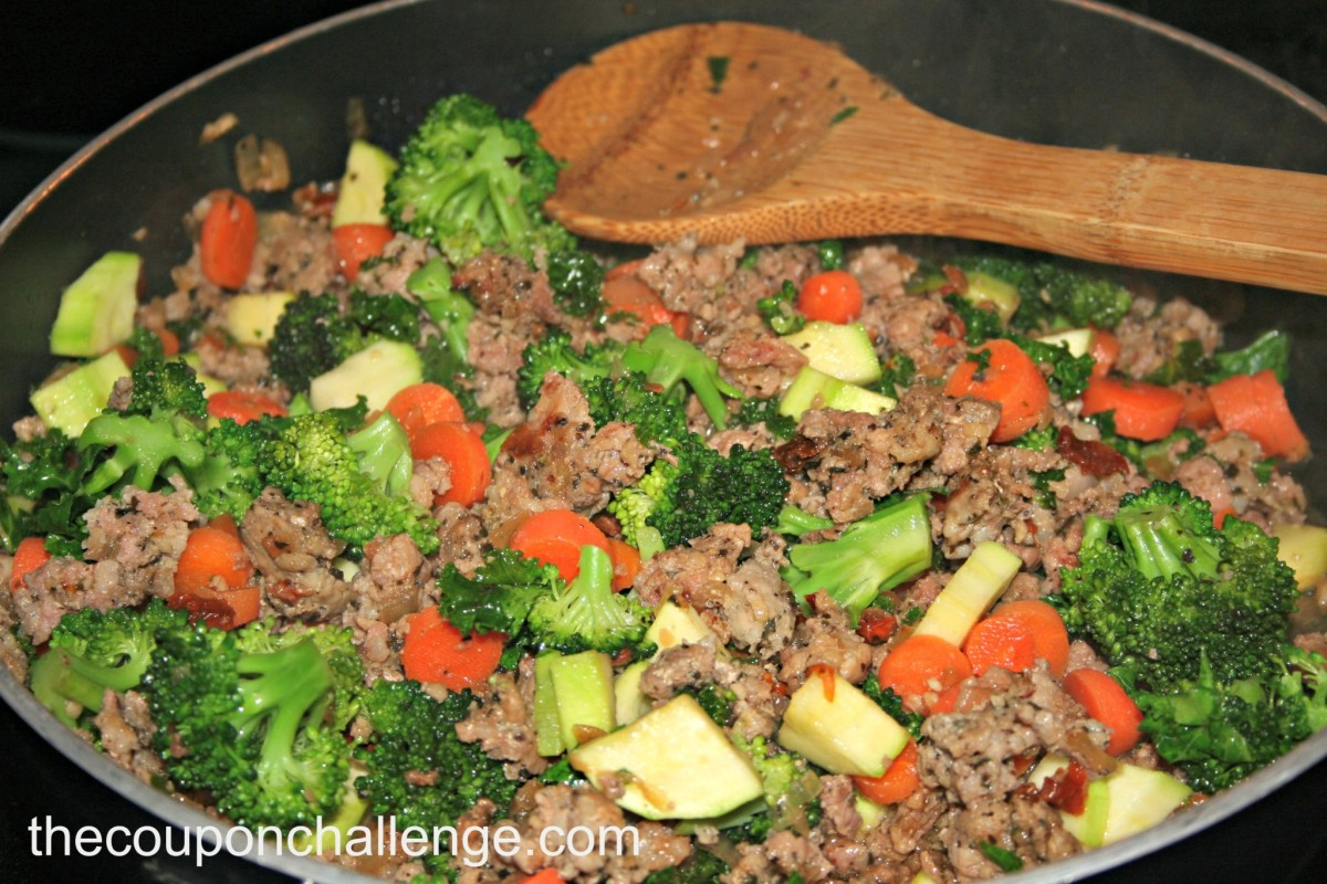 Vegetable Penne with Sausage