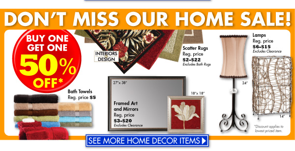 Family Dollar: Buy One Get One 50% Off Home Decor Sale