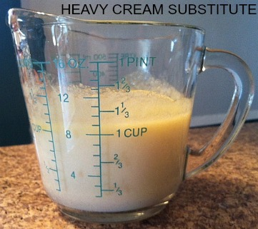 Heavy cream substitute1