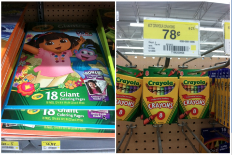 Giant Crayola Coloring Book & Crayons for $4.58 at Walmart - The ...