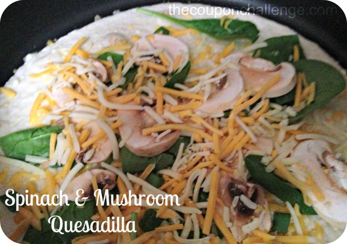 Spinach and Mushroom Quesadilla Recipe #FastFiveMeals ...