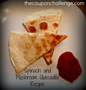 Spinach and Mushroom Quesadilla Recipe