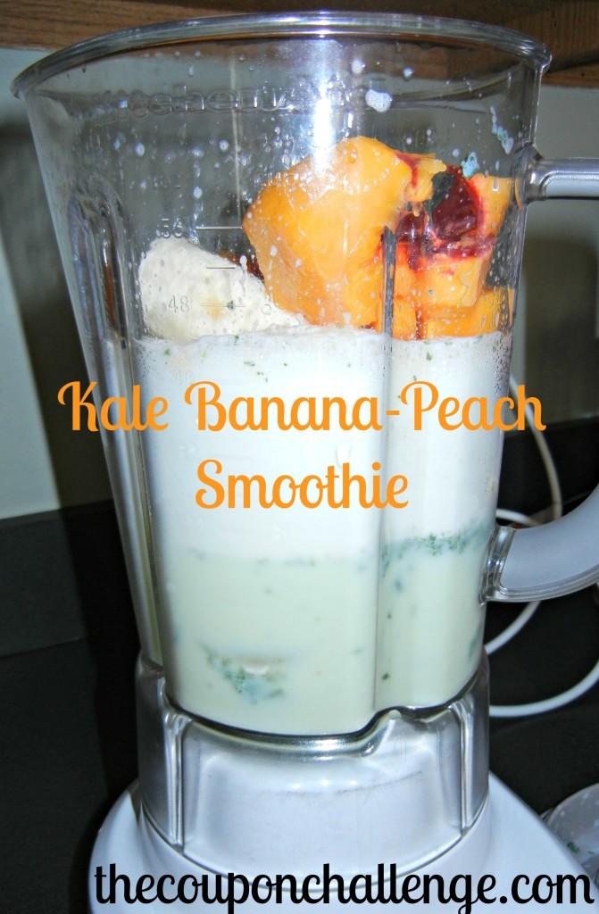 Kale Banana Peach Smoothie