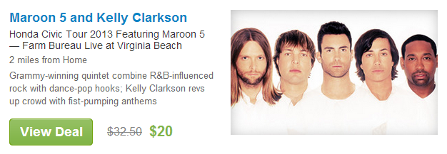 grouponmaroon5andkellyclarkson