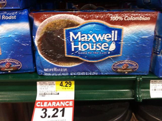 maxwell house clearance