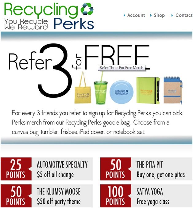 recycling perks