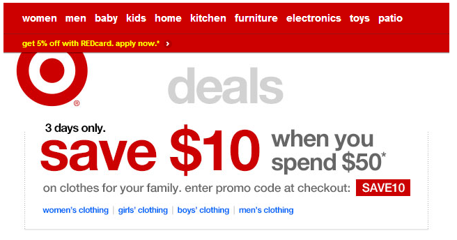target coupon code. Black Bedroom Furniture Sets. Home Design Ideas