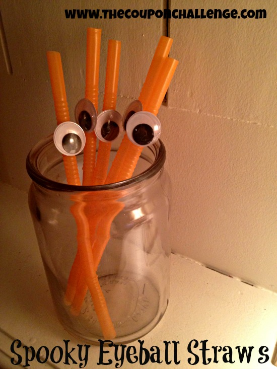 Dollar Store DIY: Spooky Straws