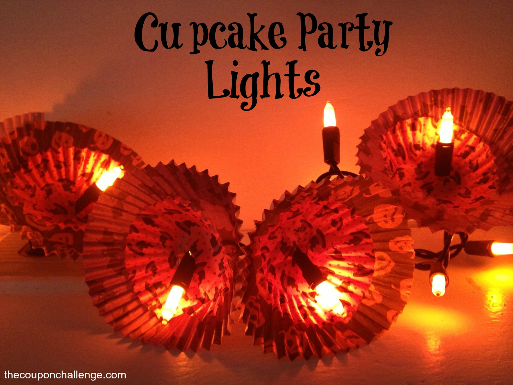 Cupcake Cup Party Lights Craft
