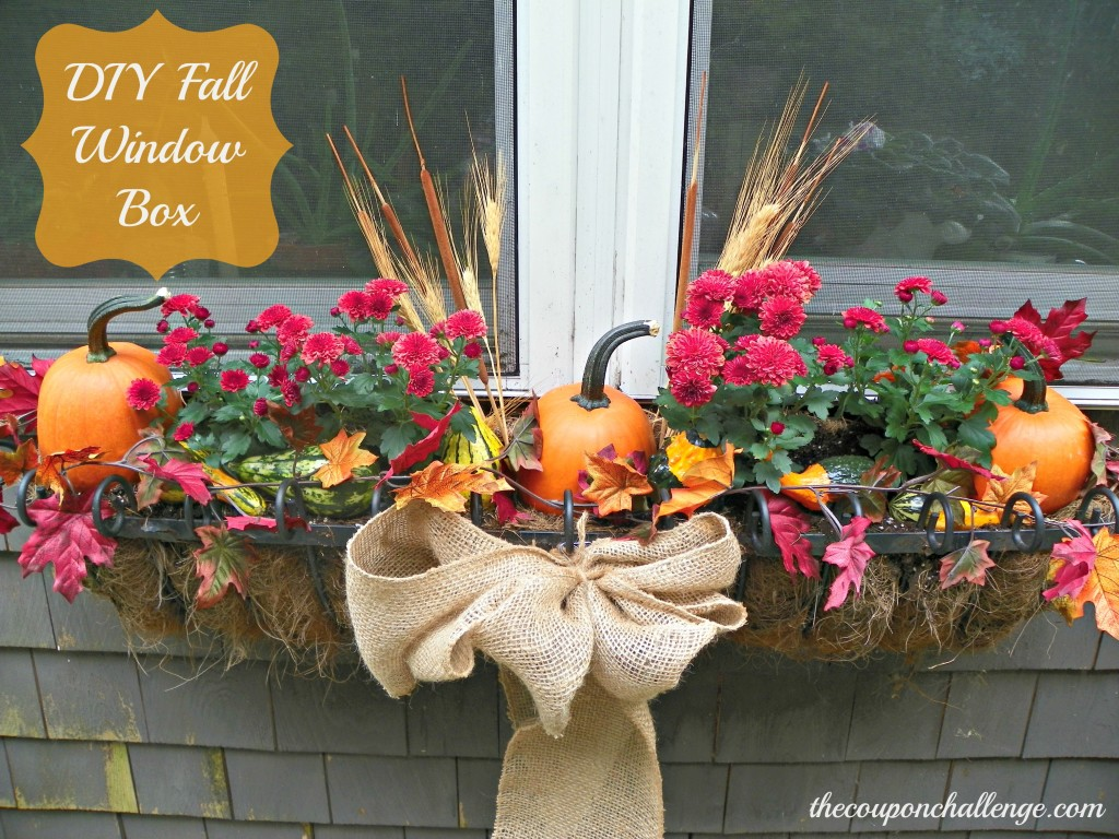 DIY Fall Window Box
