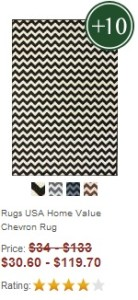 black and white chevron run