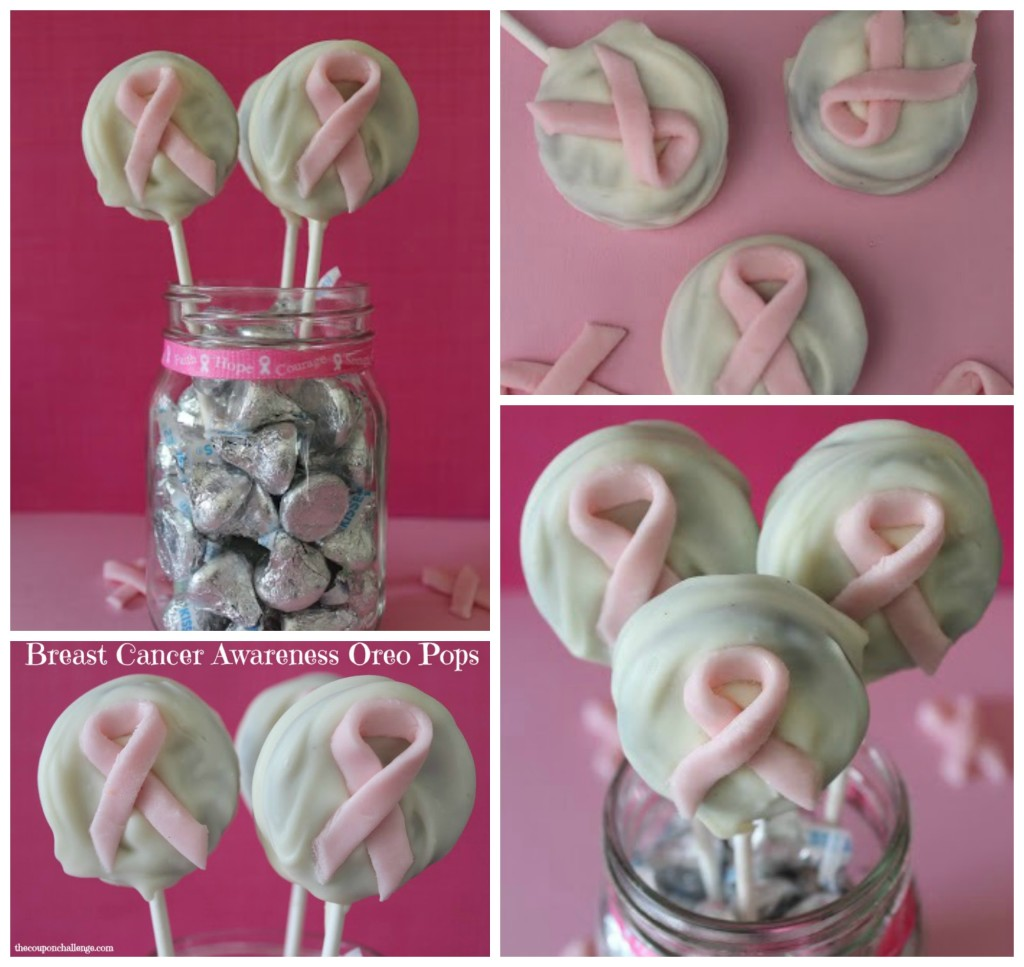 Breast Cancer Awareness Oreo Pops Collage
