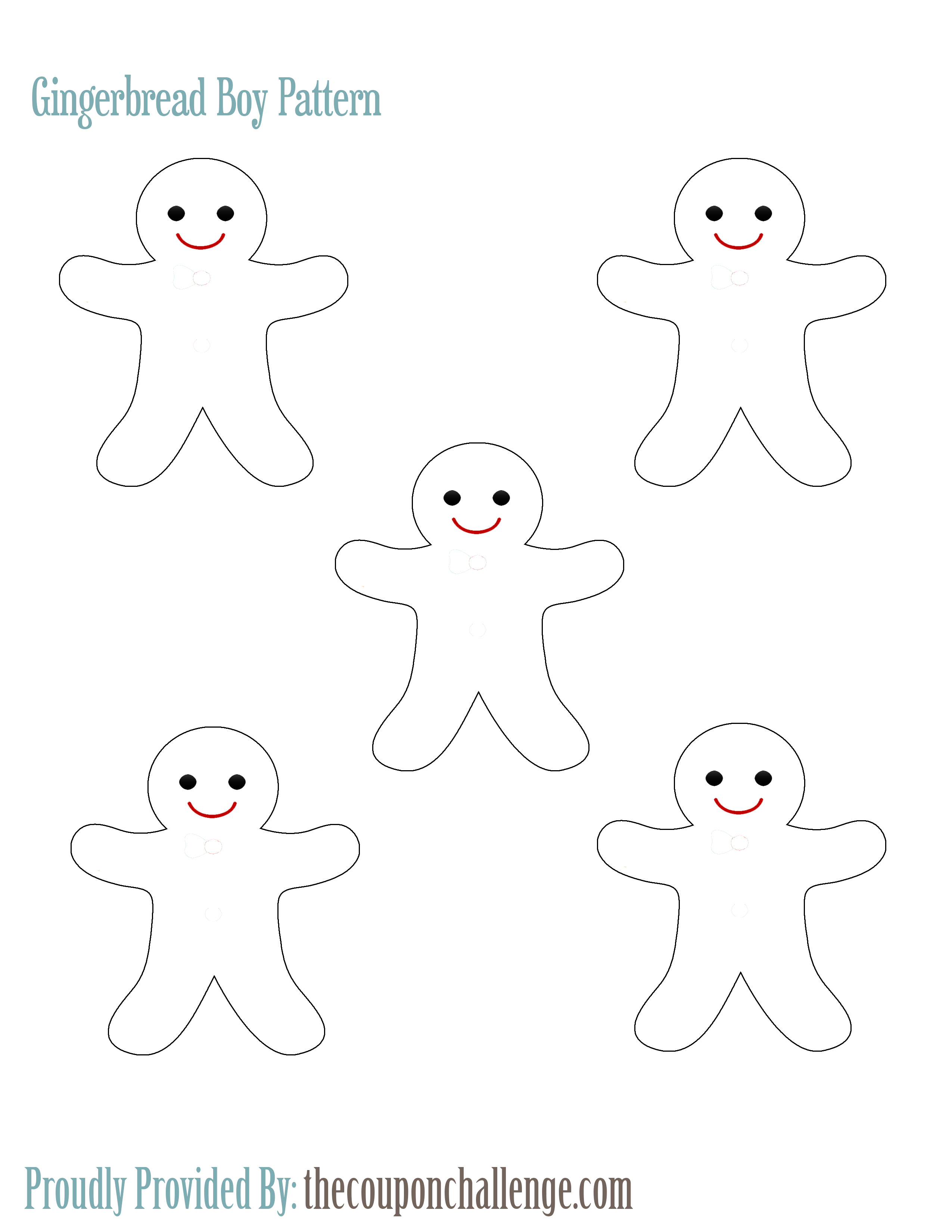 Gingerbread Boy Pattern