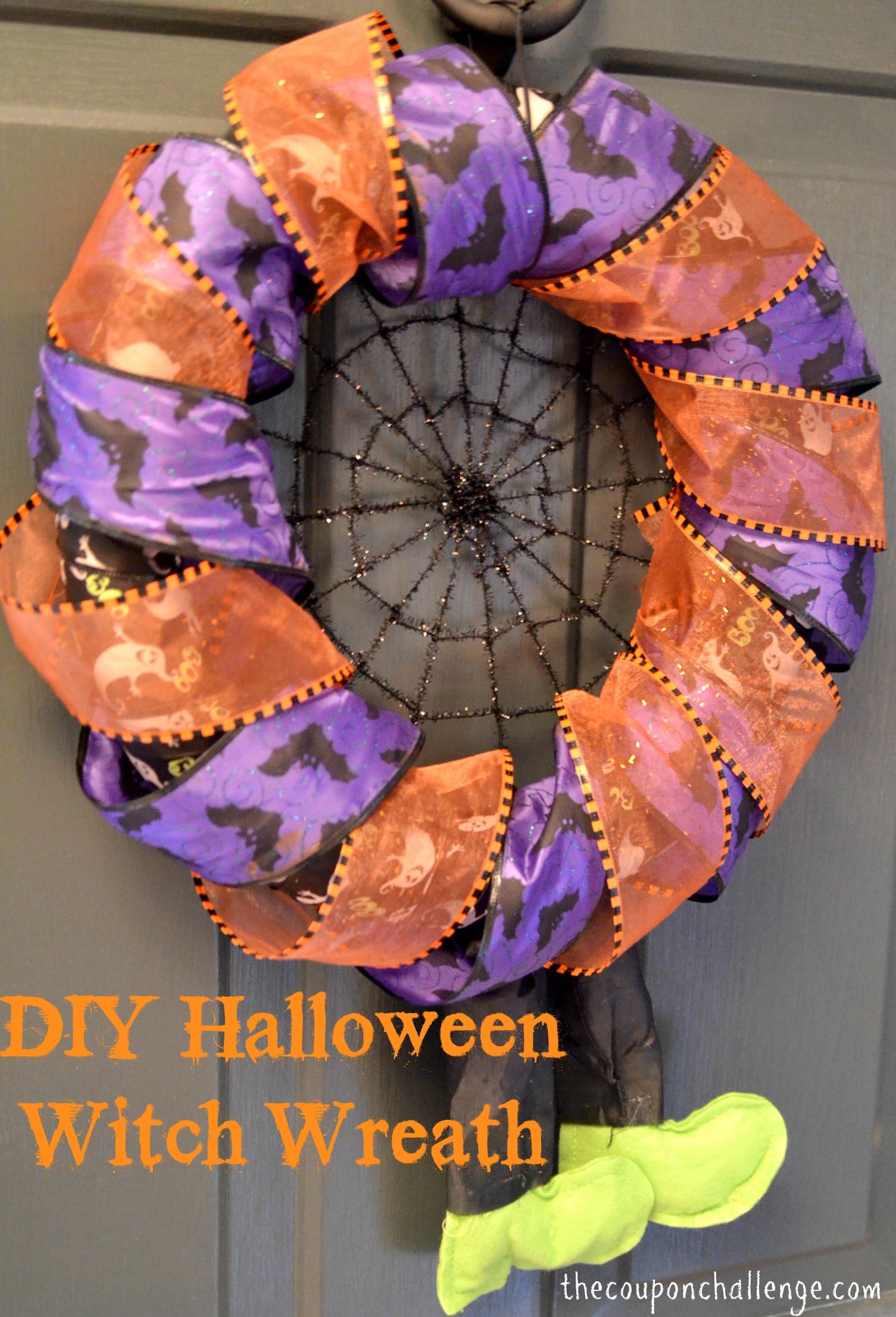 Diy halloween wreath - Halloween Witch Wreath