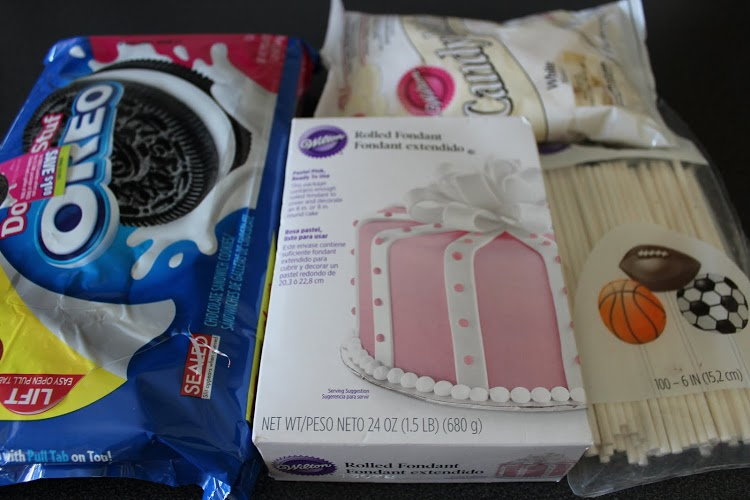 Breast Cancer Oreo Pops Ingrediants