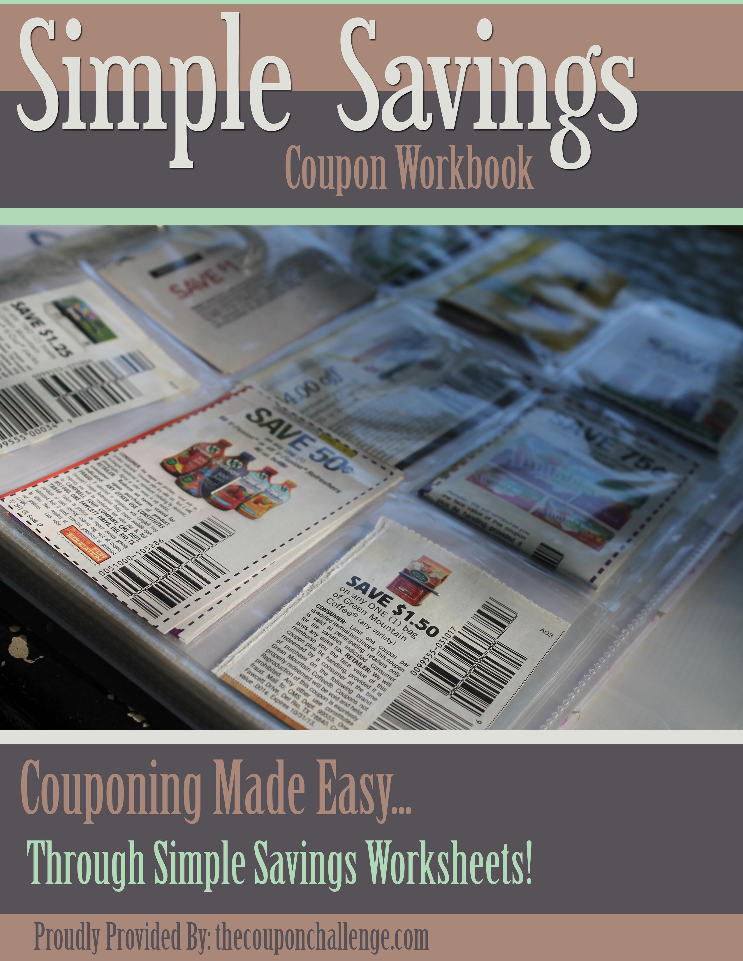 Free Coupon Workbook I Simple Saving