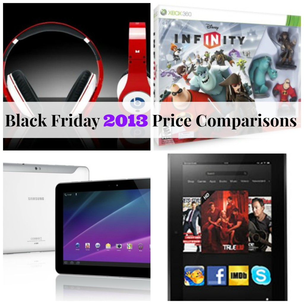 Black Friday 2013 Price Comparisons