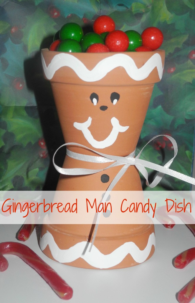 Gingerbread Man Craft Candy Dish