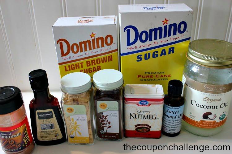 Gingerbread Sugar Scrub Ingredients