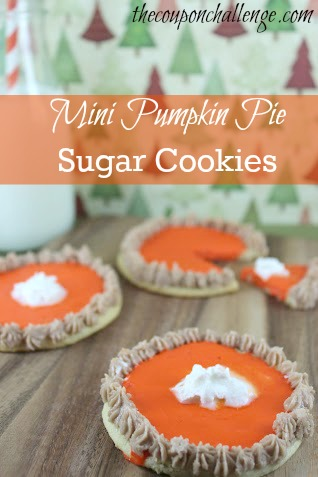 Mini Pumpkin Pie Sugar Cookies Recipe