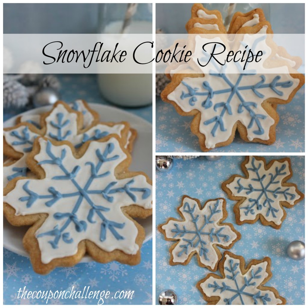 Snowflake Cookie Recipe Collage