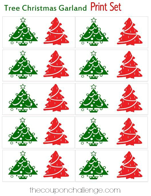 Christmas Tree Garland Printable