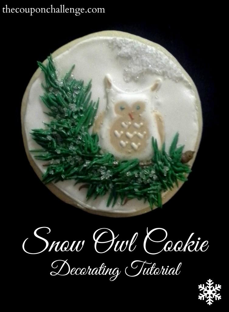 Snow Owl Cookie