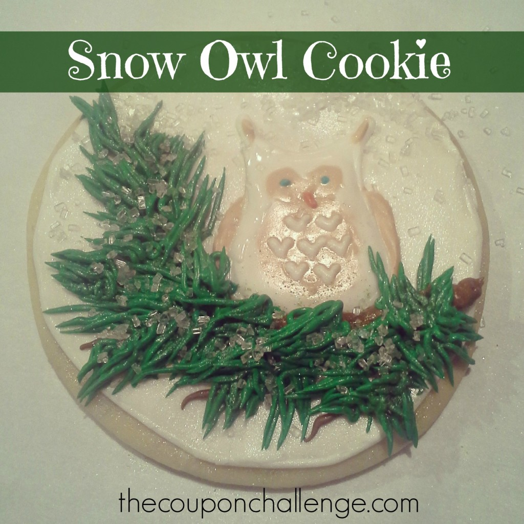 Snow Owl Cookie (White)