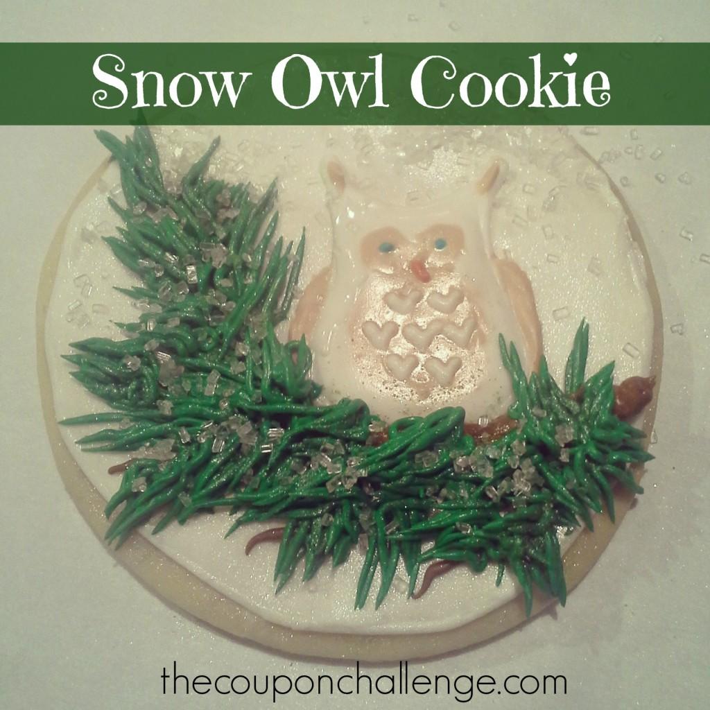 Snow Owl Cookie (White)