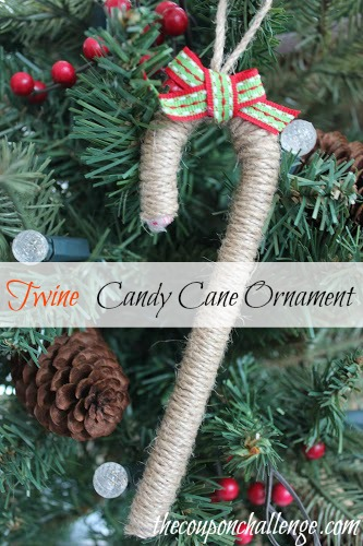 Twine Candy Cane Ornament