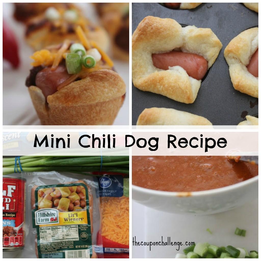 Mini Chili Dog Recipe Collage