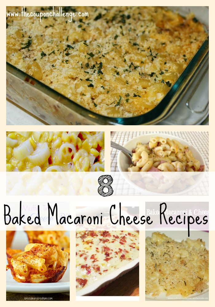 8 Baked Macaroni Cheese Recipes Collage