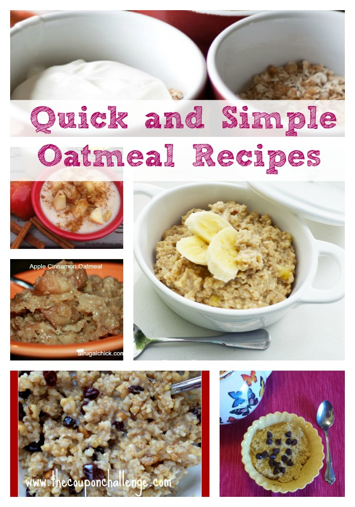 8 Quick and Simple Oatmeal RecipesCollage