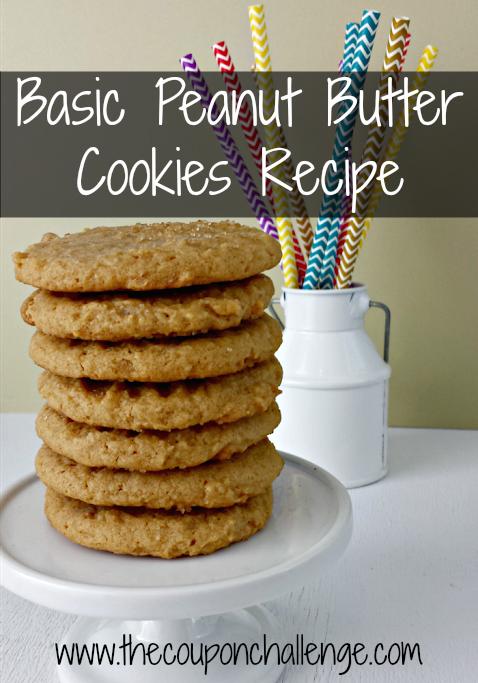 Basic Peanut Butter Cookies recipe