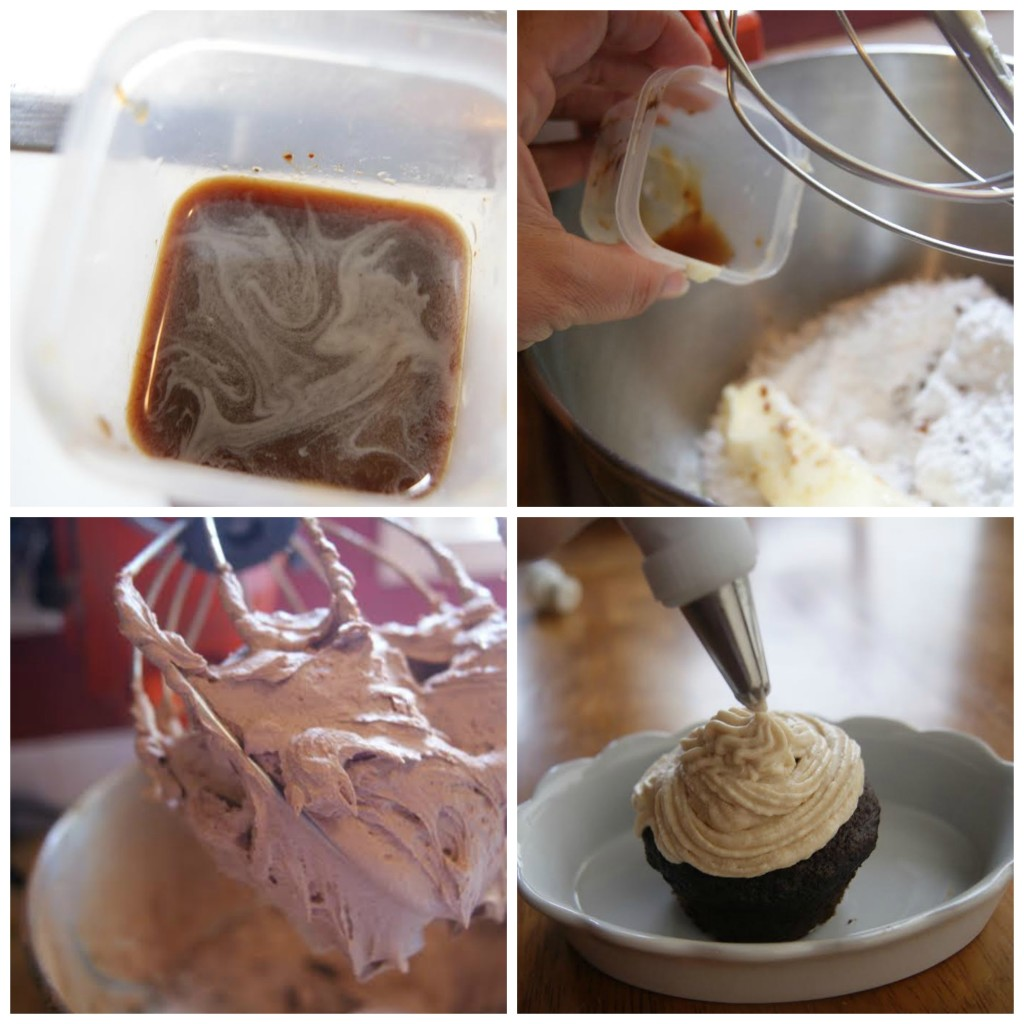 Coffee Buttercream Icing Collage