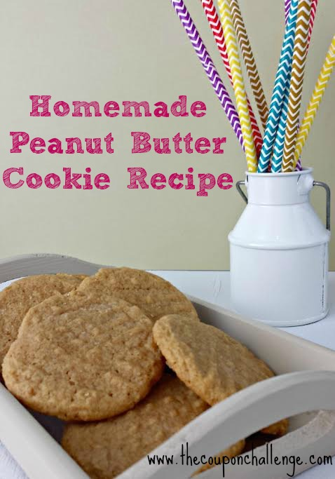 Homemade Peanut Butter Cookie Recipe