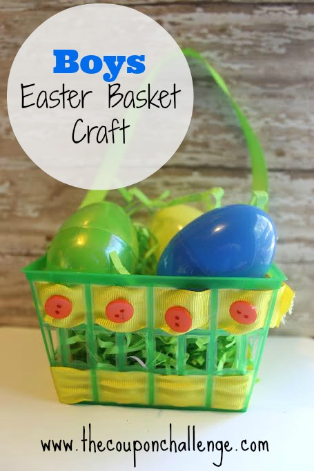 Easter Basket Craft for Kids - Boy