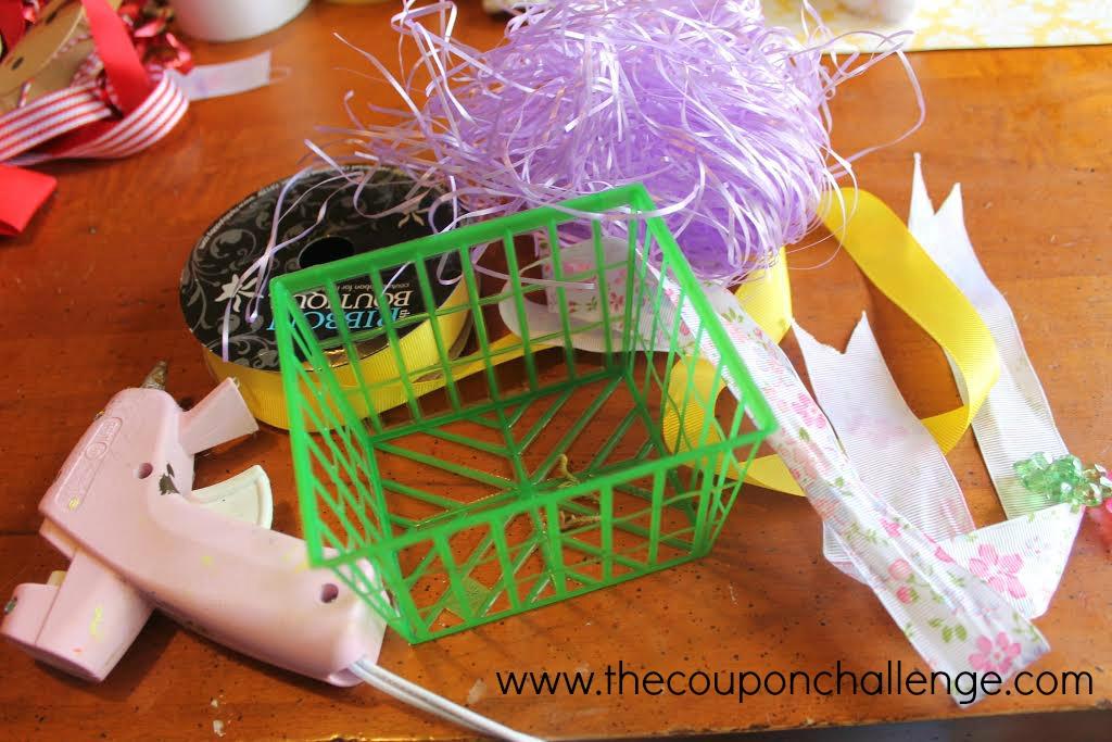 Easter Basket Craft for Kids supplies